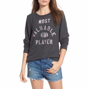 Wildfox Most Valuable Player Baggy Sweatshirt NWT